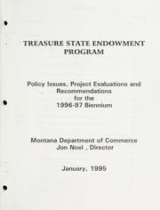Cover of: Treasure state endowment program |