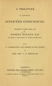 Cover of: A treatise on comforting afflicted consciences