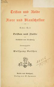 Cover of: Tristan und Isolde | Wolfgang Golther