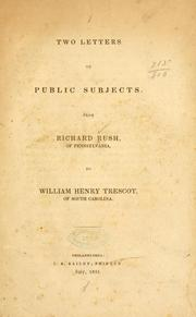 Cover of: Two letters on public subjects