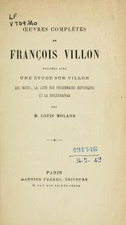 Cover of: uvres complètes