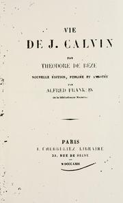 Cover of: Vie de J. Calvin