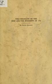 Cover of: The Virginians on the Ohio and the Mississippi in 1742