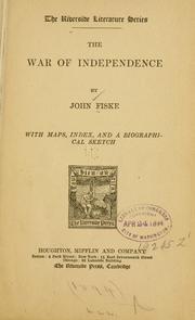 Cover of: The War of Independence