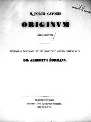 Cover of: Originum libri septem
