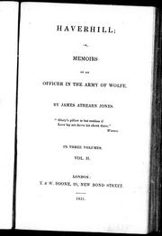 Cover of: Haverhill, or, Memoirs of an officer in the army of Wolfe |