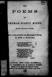 Cover of: The Poems of Thomas D