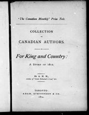 Cover of: For king and country | Agnes Maule Machar