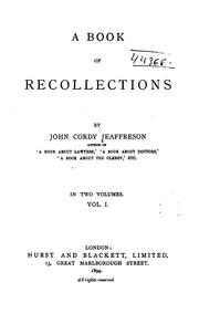 Cover of: A book of recollections