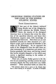 Cover of: Aboriginal fishing stations on the coast of the middle Atlantic states | Francis Jordan