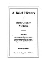 Cover of: A brief history of Bath County, Virginia