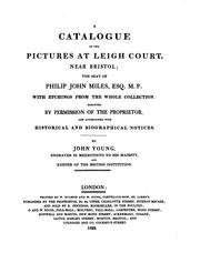 Cover of: catalogue of the pictures at Leigh court | Philip John Miles