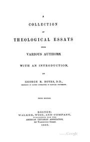 Cover of: A collection of theological essays from various authors