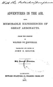 Cover of: Adventures in the air