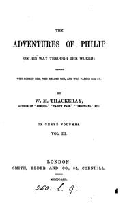 Cover of: The adventures of Philip on his way through the world