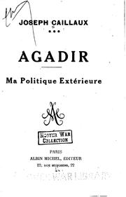 Cover of: Agadir