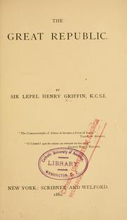 Cover of: The great republic