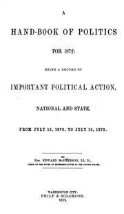 Cover of: A hand-book of politics for 1872
