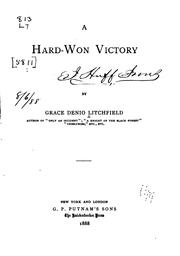 Cover of: A hard-won victory