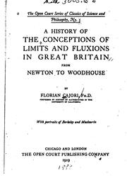 Cover of: A history of the conceptions of limits and fluxions in Great Britain