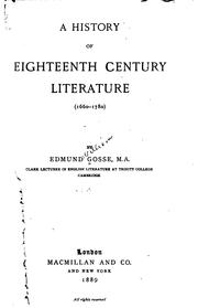 Cover of: A history of eighteenth century literature (1660-1780)