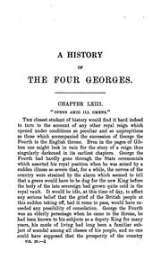 Cover of: A history of the four Georges
