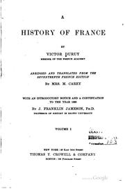 Cover of: A history of France