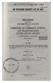 Cover of: Air Travelers Security Act of 1983