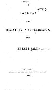 Cover of: A journal of the disasters in Affghanistan, 1841-2