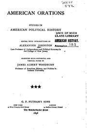 Representative American orations by Johnston, Alexander