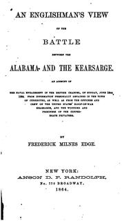 Cover of: An Englishman's view of the battle between the Alabama and the Kearsarge