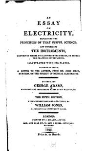 An essay on electricity by Adams, George