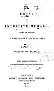 Cover of: Theory of morals