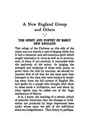 Cover of: A New England group and others