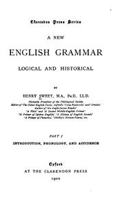 Cover of: A new English grammar, logical and historical