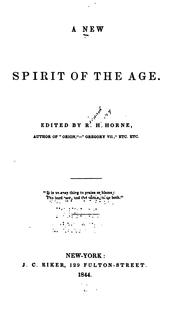 Cover of: A New spirit of the age |