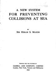 Cover of: A new system for preventing collisions at sea