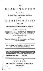 Cover of: An examination of the fifteenth and sixteenth chapters of Mr. Gibbon's History of the decline and fall of the Roman Empire