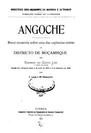 Cover of: Angoche