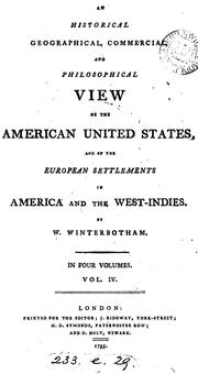 Cover of: An historical, geographical, commercial, and philosophical view of the American United States