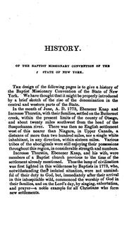 Cover of: historical sketch of the Baptist missionary convention of the state of New York | Peck, John