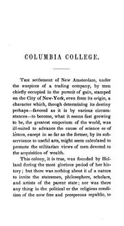 Cover of: historical sketch of Columbia college, in the city of New-York. | Nathaniel Fish Moore