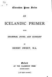 Cover of: An Icelandic primer with grammar, notes and glossary