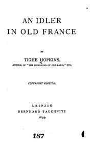 Cover of: An idler in old France