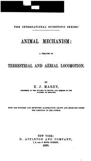 Cover of: Animal mechanism | Étienne-Jules Marey