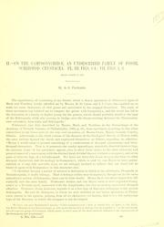 Cover of: I. On the Syncarida, a hitherto undescribed synthetic group of extinct malacostracous Crustacea ; II. On the Gampsonychidæ, an undescribed family of fossil schizopod Crustacea ; III. On the Anthracaridæ, a family of Carboniferous macrurous decapod Crustracea