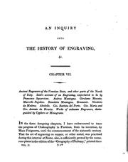 Cover of: An inquiry into the origin and early history of engraving, upon copper and in wood