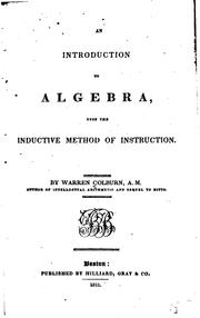Cover of: An introduction to algebra