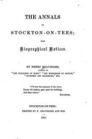 Cover of: annals of Stockton-on-Tees with biographical notices | Henry Heavysides