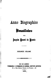 Cover of: Anno biographico brazileiro